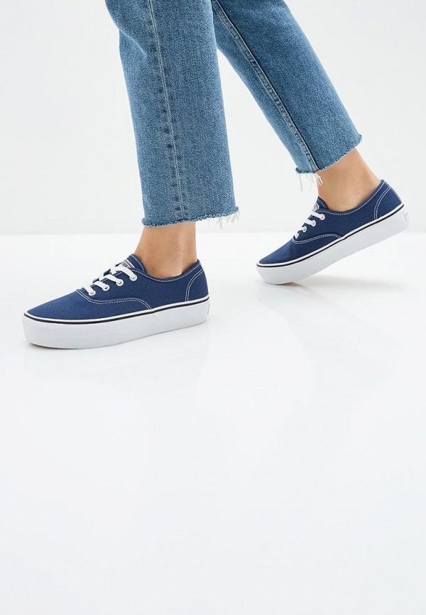 Фото 6 - женские кеды Skechers синего цвета