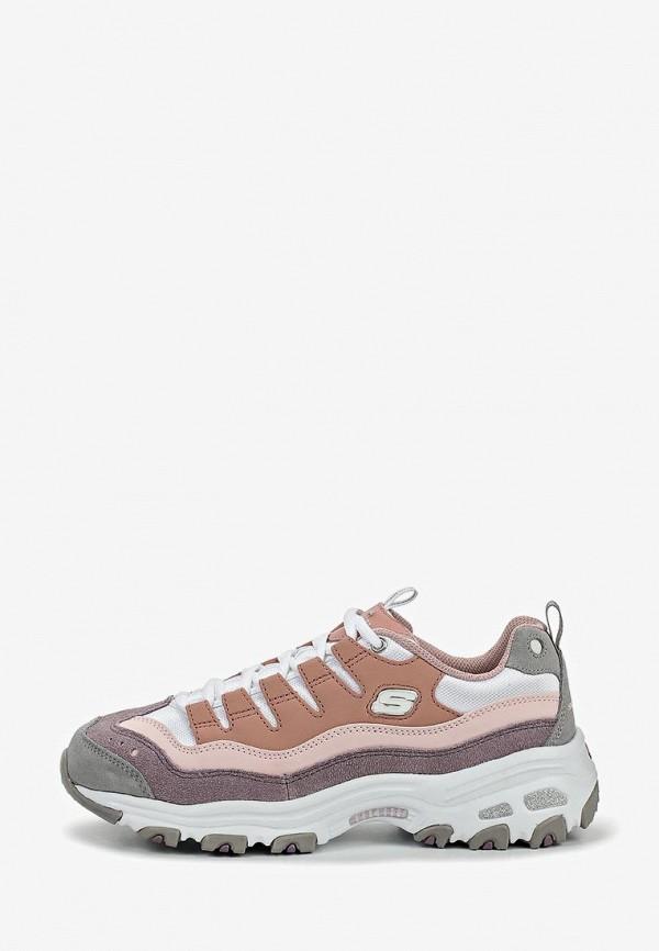 женские низкие кроссовки skechers, разноцветные