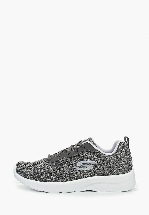 Фото - женские кроссовки Skechers серого цвета