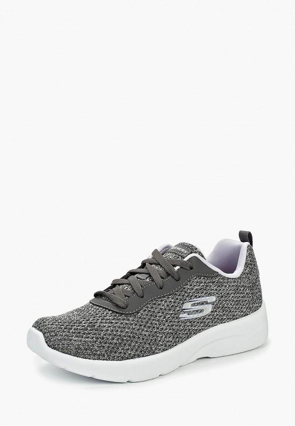 Фото 2 - женские кроссовки Skechers серого цвета