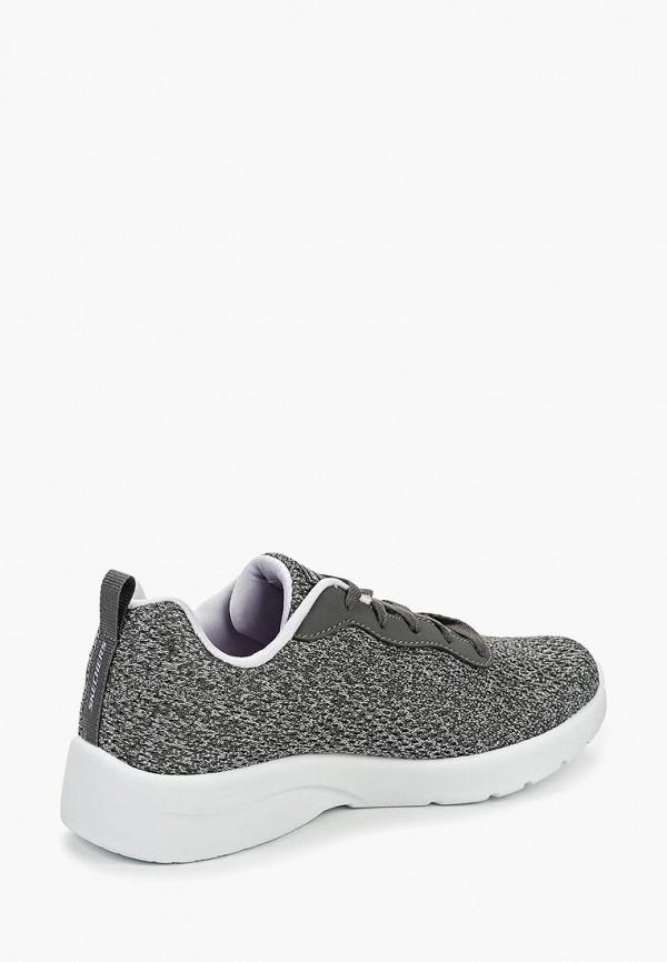 Фото 3 - женские кроссовки Skechers серого цвета