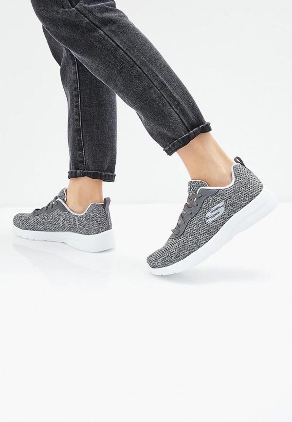Фото 6 - женские кроссовки Skechers серого цвета