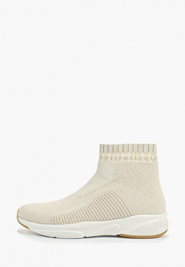 Фото - женские кроссовки Skechers бежевого цвета