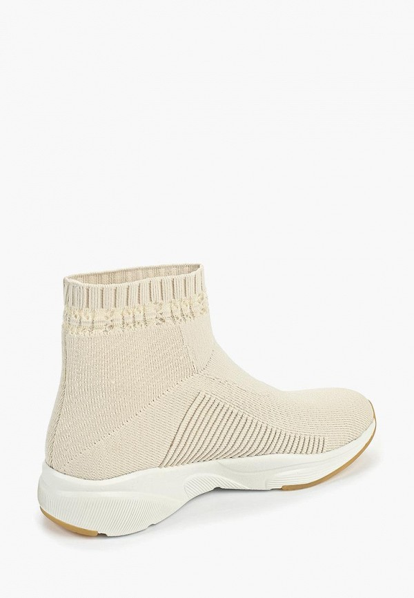 Фото 3 - женские кроссовки Skechers бежевого цвета