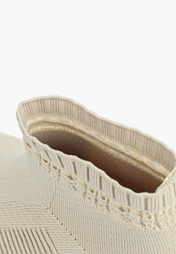 Фото 6 - женские кроссовки Skechers бежевого цвета