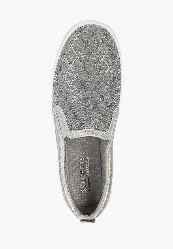 Фото 4 - Слипоны Skechers серебрянного цвета