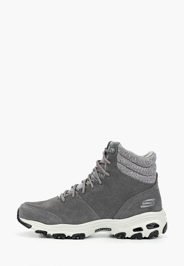 Фото - женские ботинки и полуботинки Skechers серого цвета