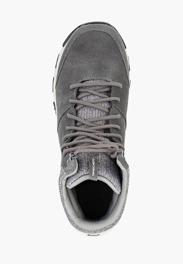 Фото 4 - женские ботинки и полуботинки Skechers серого цвета