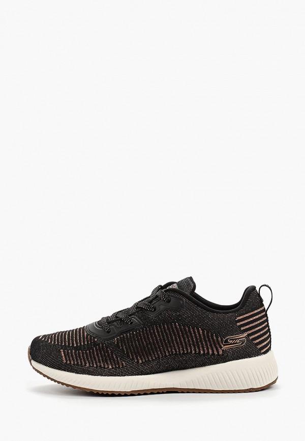 Фото - женские кроссовки Skechers черного цвета