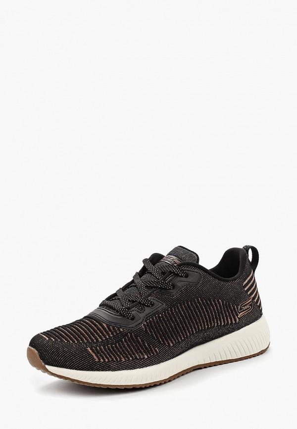 Фото 2 - женские кроссовки Skechers черного цвета