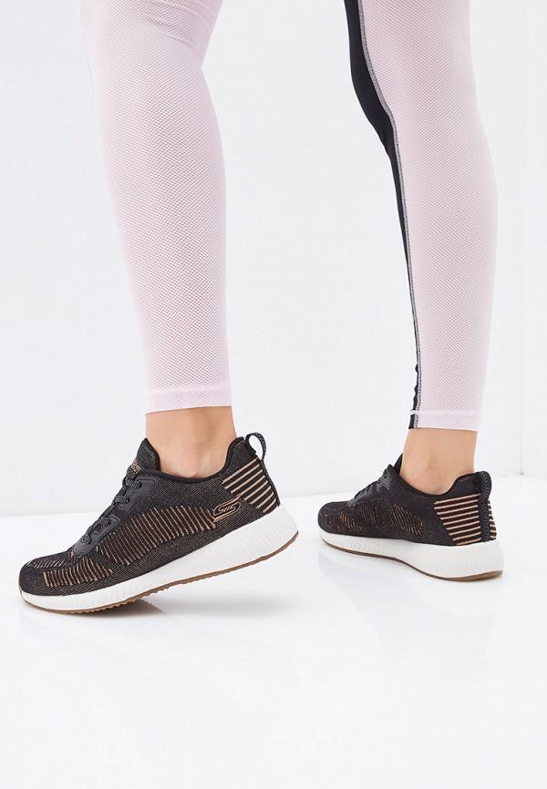 Фото 6 - женские кроссовки Skechers черного цвета