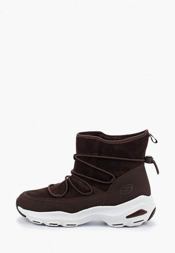 женские кроссовки skechers, коричневые