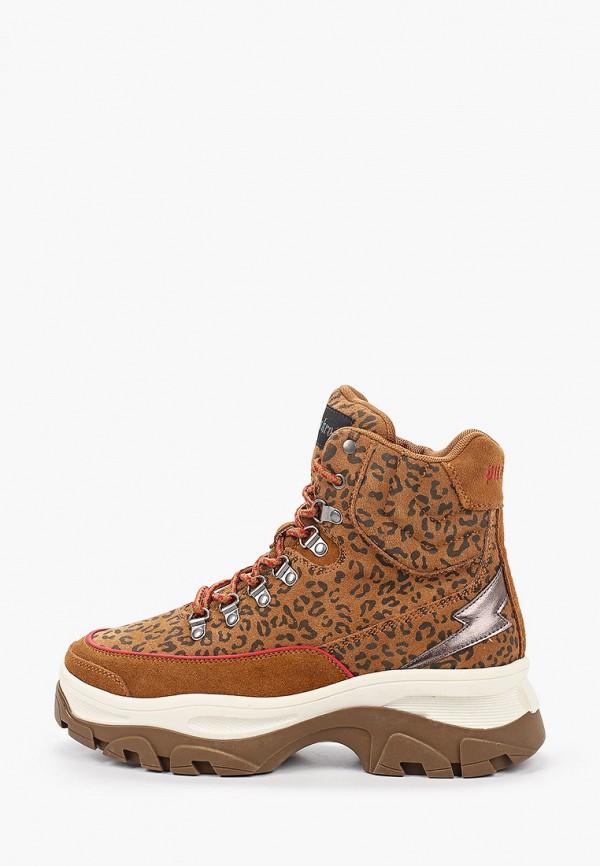 женские высокие ботинки skechers, коричневые