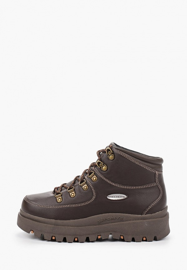 женские ботинки skechers, коричневые