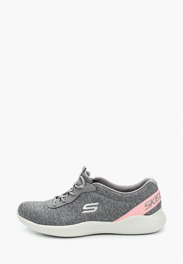 женские низкие кроссовки skechers, серые