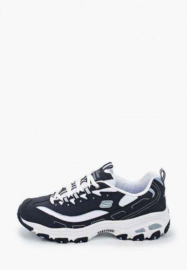 женские кроссовки skechers, синие