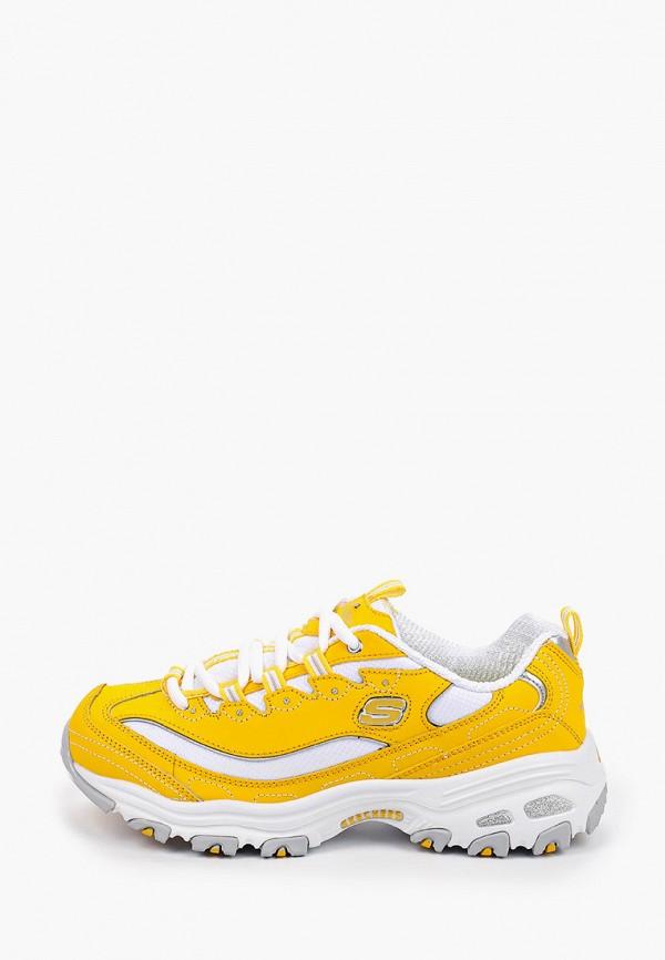 женские низкие кроссовки skechers, желтые