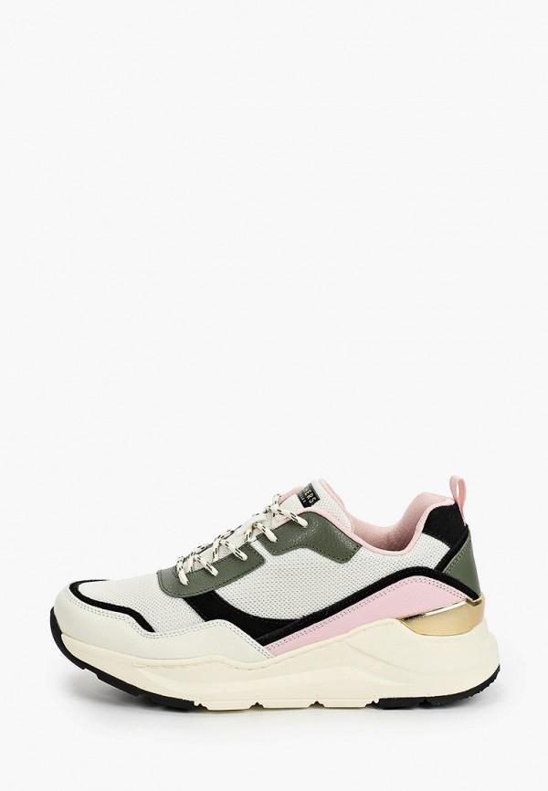 женские кроссовки skechers, бежевые