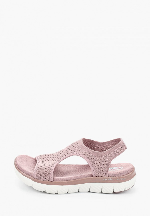 женские сандалии skechers, розовые