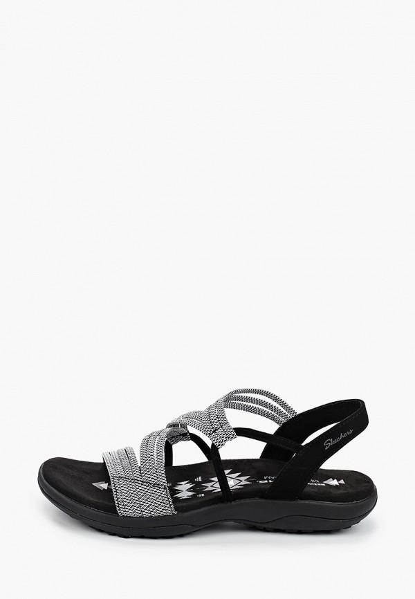 женские сандалии skechers, серые