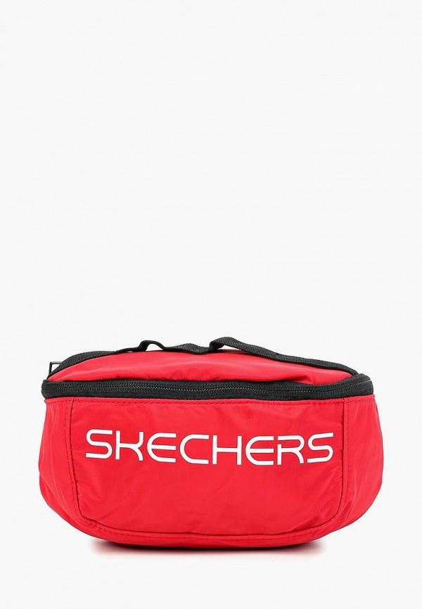 женская сумка skechers, красная