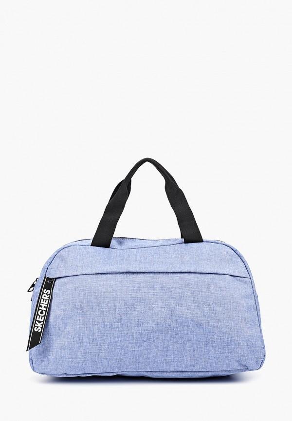 женская сумка skechers, голубая