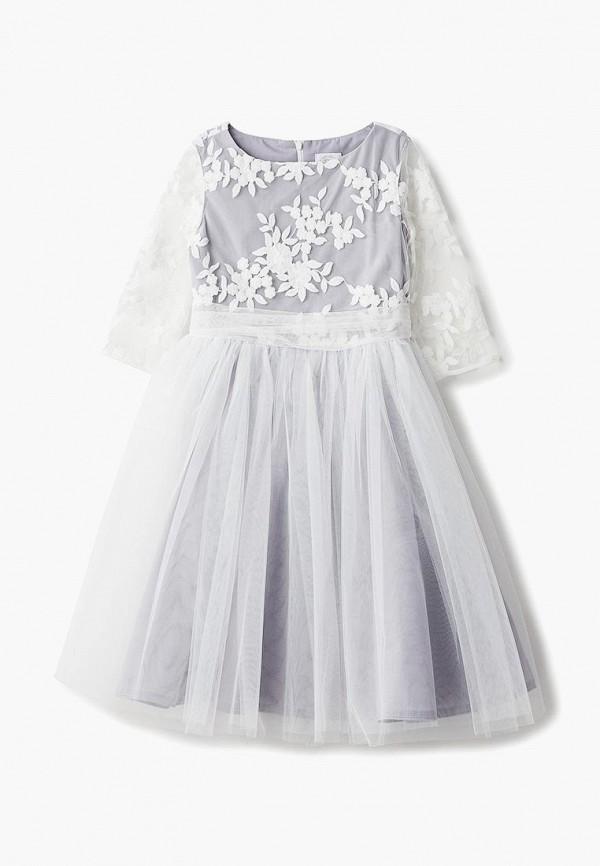 платье sly для девочки, серое