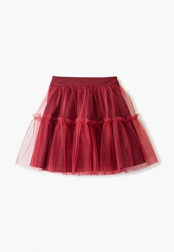 юбка sly для девочки, бордовая