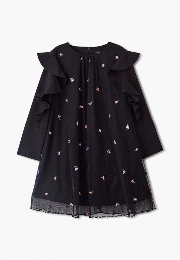 повседневные платье sly для девочки, черное