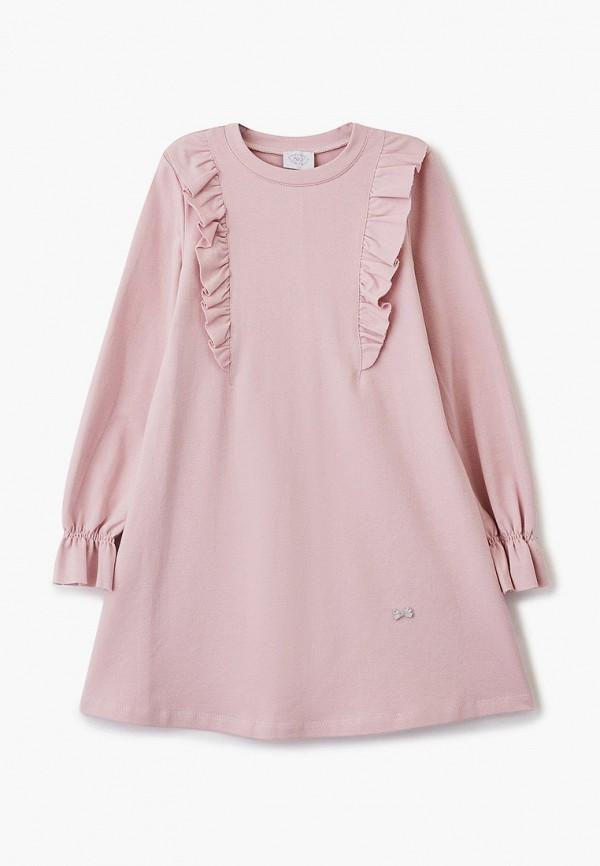 повседневные платье sly для девочки, розовое