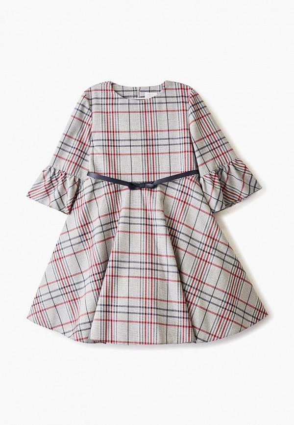 повседневные платье sly для девочки, серое