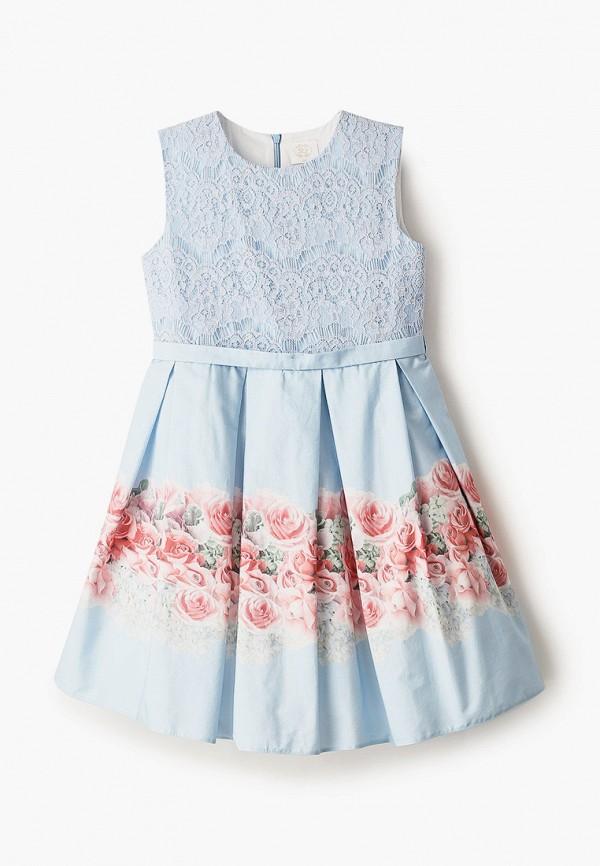 платье sly для девочки, голубое