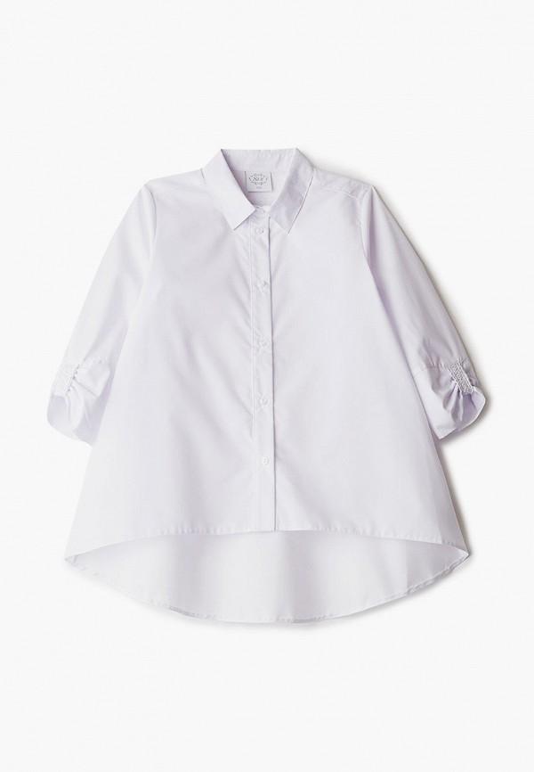 рубашка sly для девочки, белая