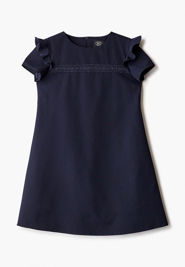 повседневные платье sly для девочки, синее