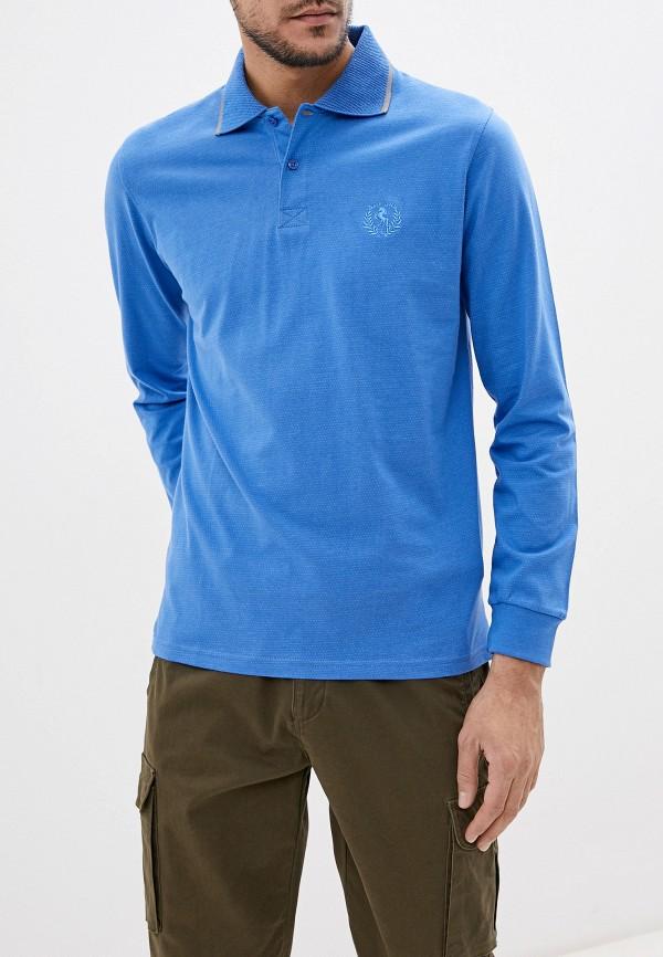 мужское поло smf, синее