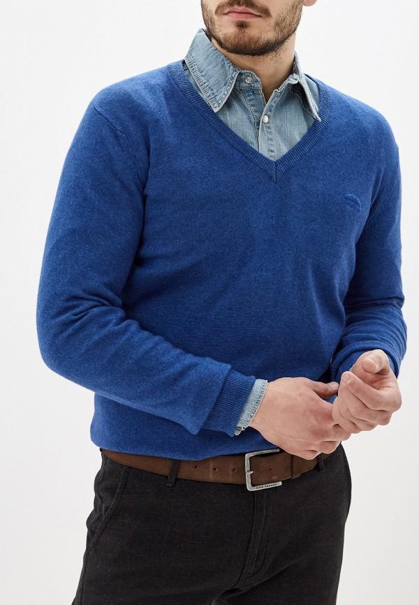 мужской пуловер smf, голубой
