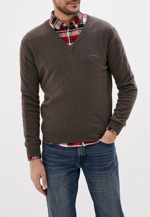 мужской пуловер smf, коричневый