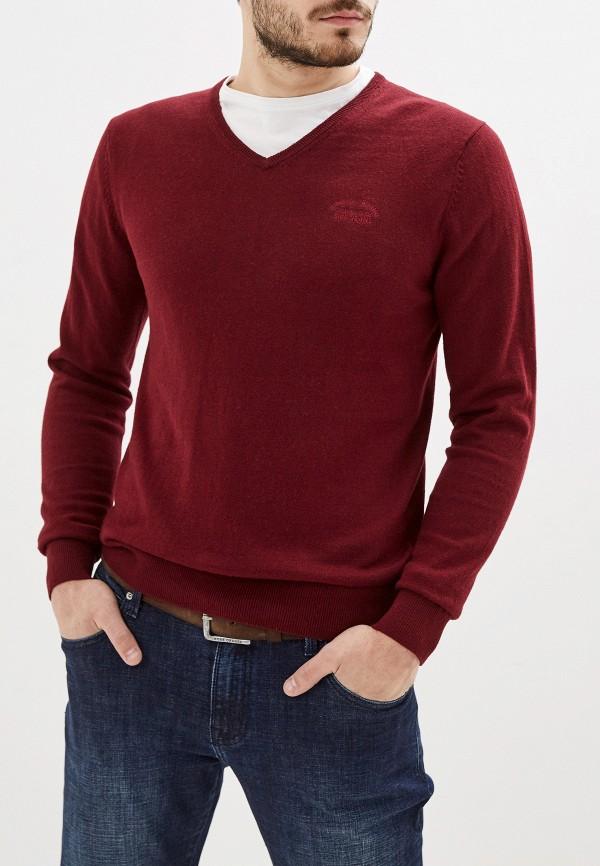 мужской пуловер smf, бордовый
