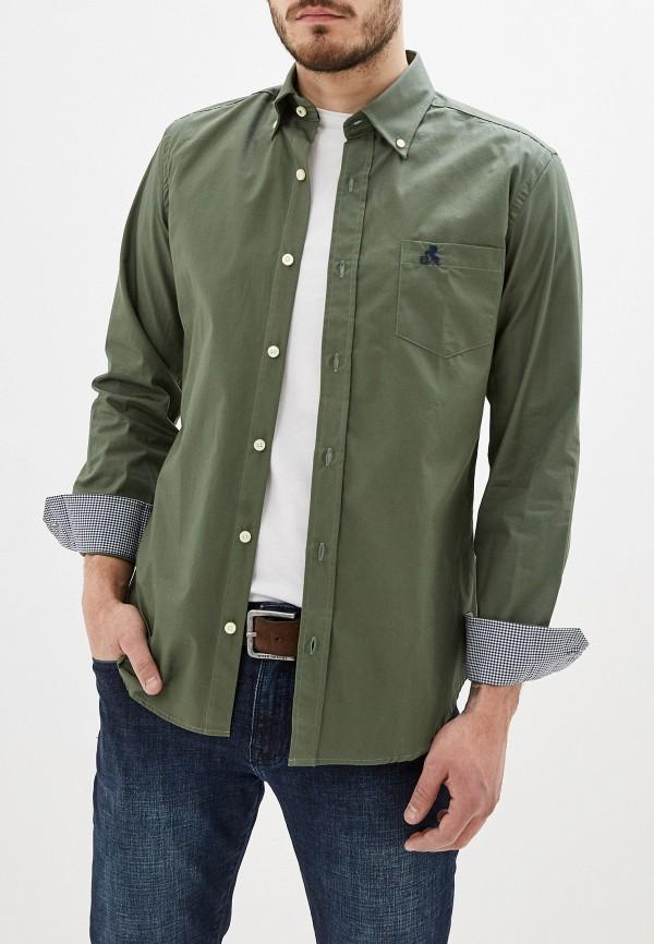мужская рубашка с длинным рукавом smf, зеленая