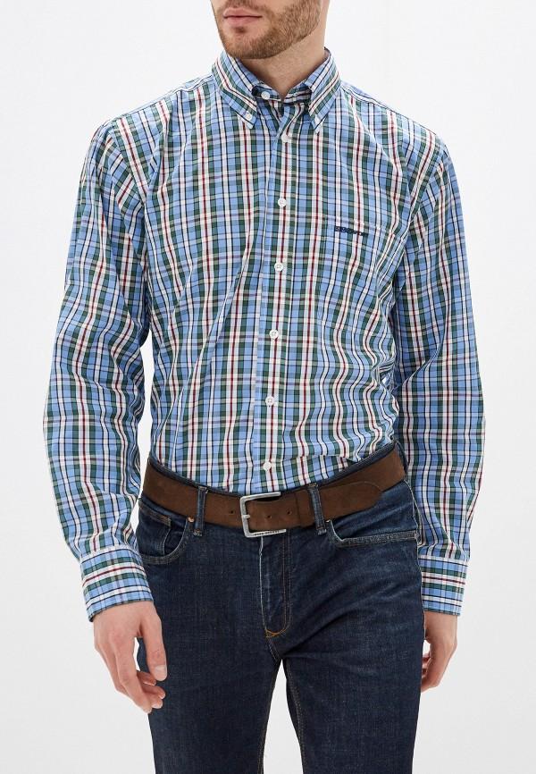 мужская рубашка с длинным рукавом smf, голубая