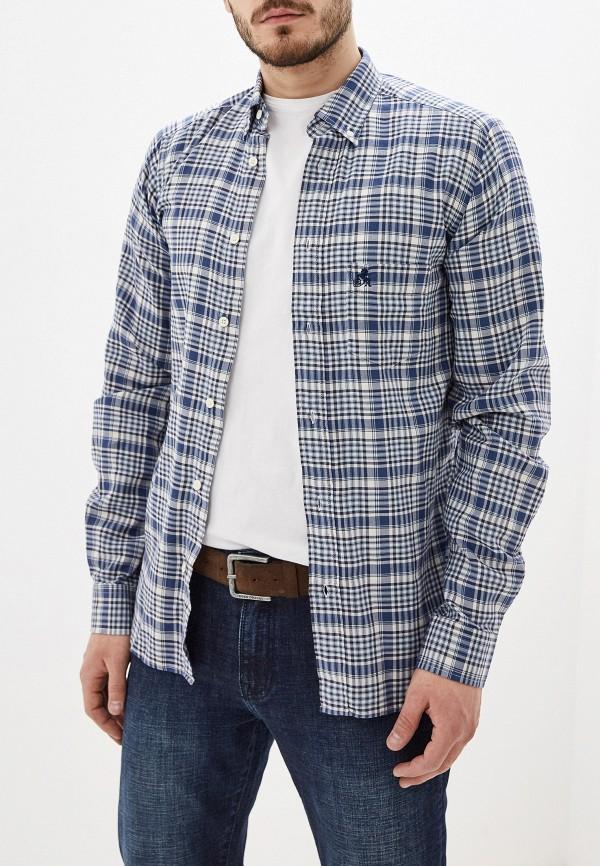 мужская рубашка с длинным рукавом smf, синяя