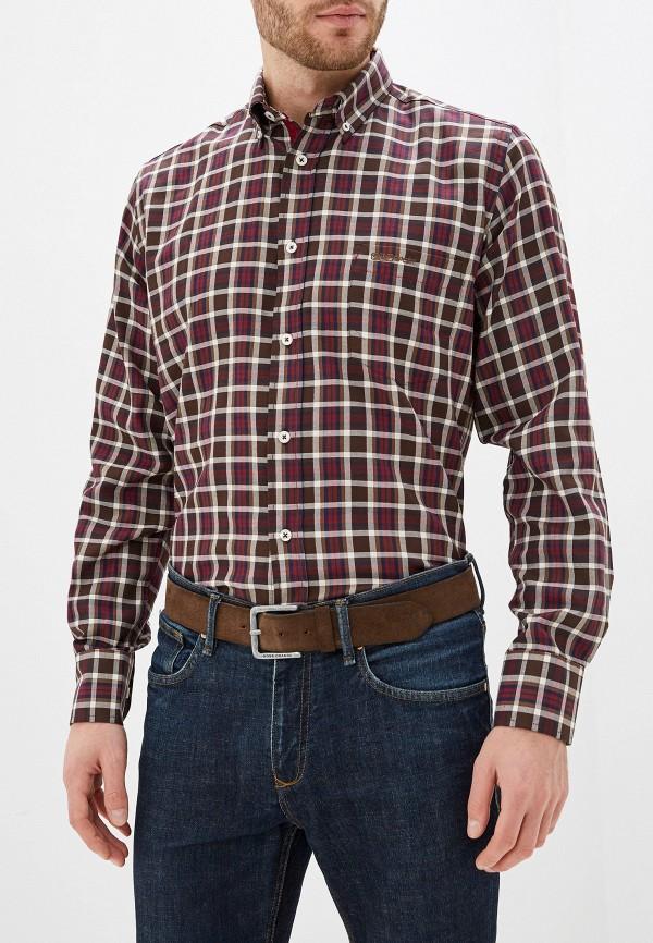 мужская рубашка с длинным рукавом smf, коричневая