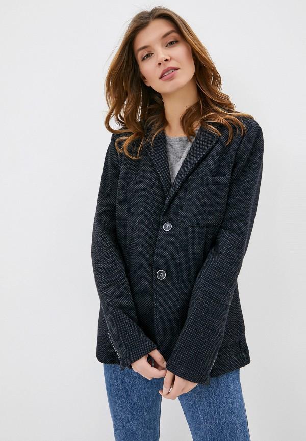 женский пиджак smf, синий