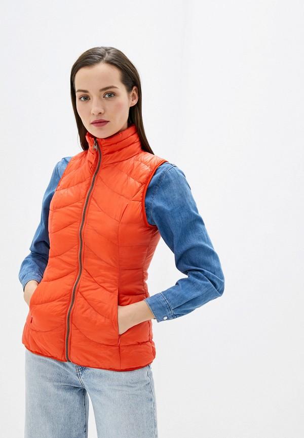 женский жилет smf, оранжевый