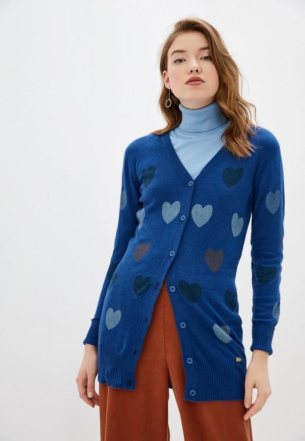 женский кардиган smf, синий