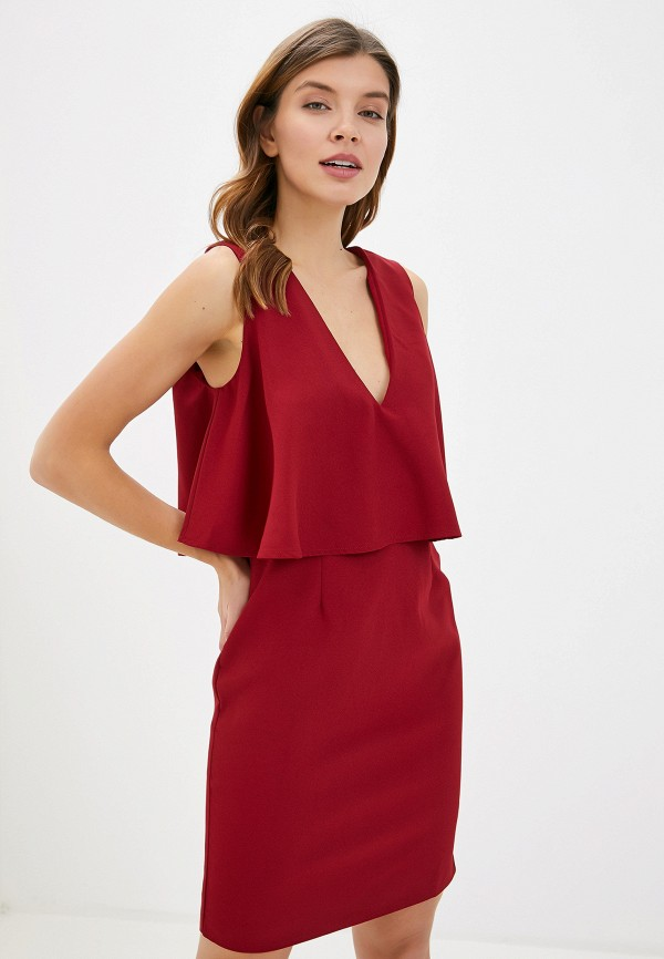 женское повседневные платье smf, красное