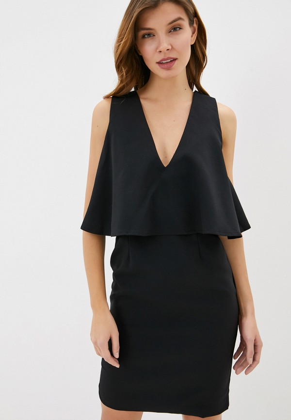 женское повседневные платье smf, черное