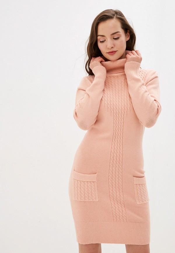 женское платье smf, розовое