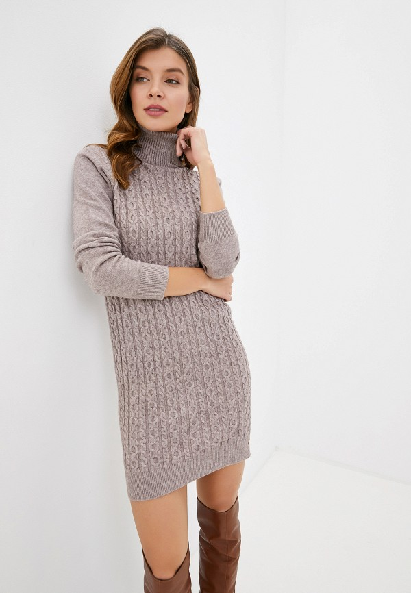 женское платье smf, бежевое