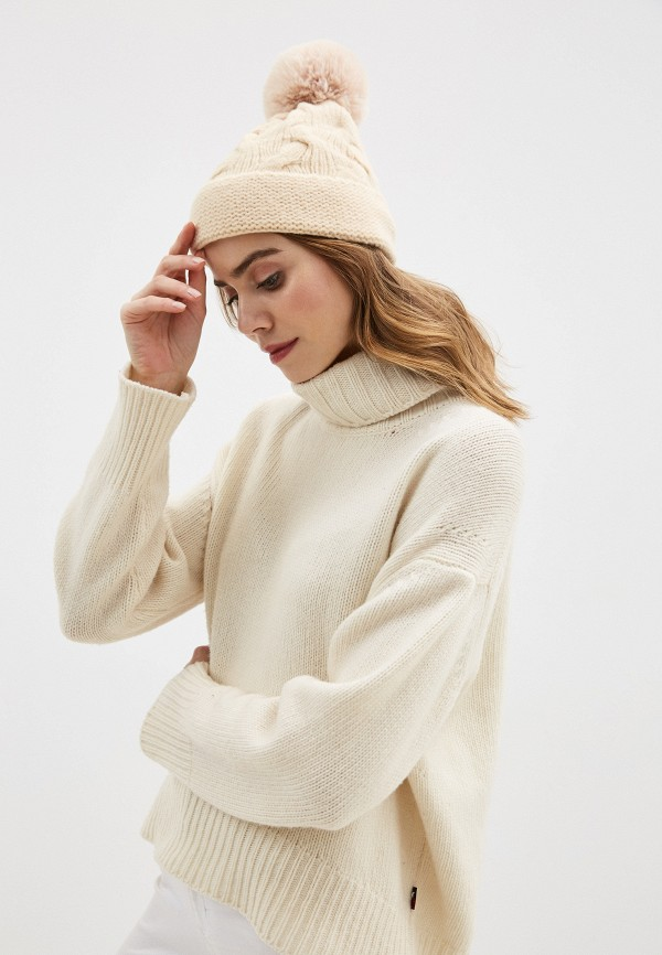 Фото 3 - Женскую шапку Snow Airwolf бежевого цвета